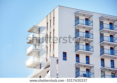 Facade of a modern apartment building #1017630337