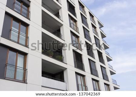 Apartment Building Facade royalty-free facade of a modern apartment building… #137042378