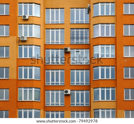 Facade of a modern apartment house