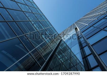 Facade of a modern office building.