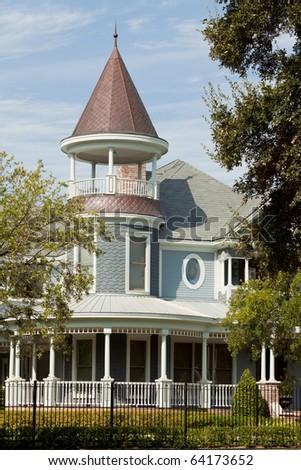 Facade of a Victorian style home.