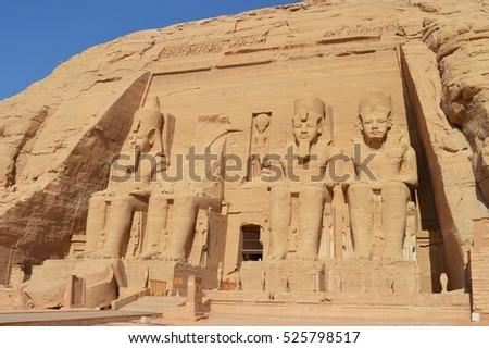 Facade of Abu simbel #525798517