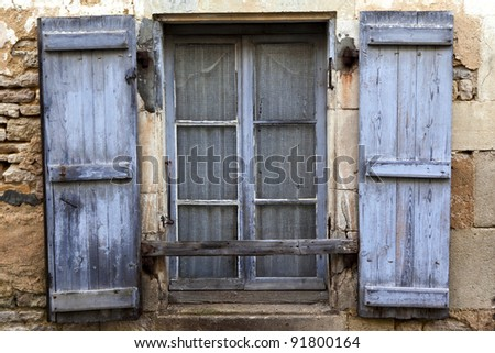 Facade of an old house in a French village