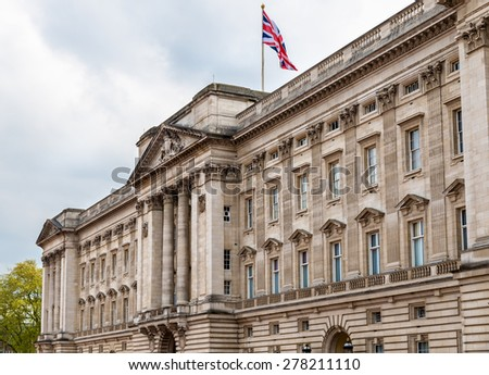 Shutterstock Facade of Buckingham Palace in London - Great Britain