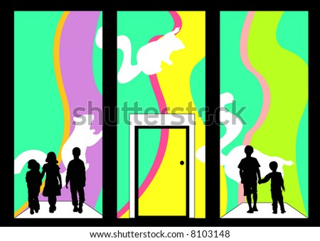 stock photo : facade of children's clothing store