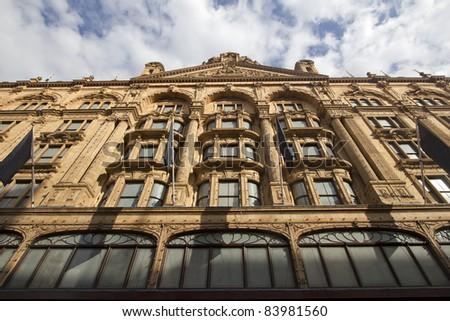Facade of Department store in London, UK