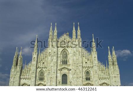 Facade of Duomo, Milan, Italy