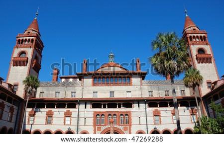 Facade of Flagler College in St Augustine, Florida