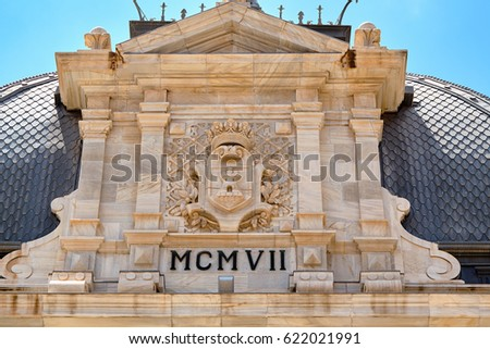 facade of historic building...