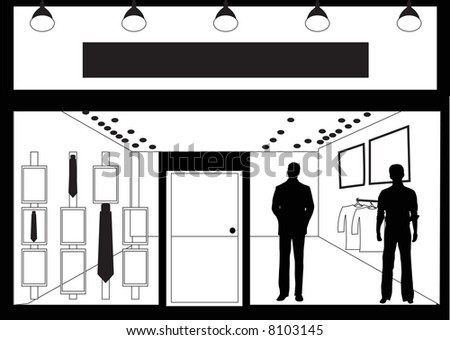 facade of men's clothing store