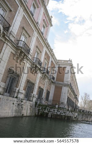 facade of palace in the royal...