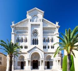 Facade of Saint Nicholas Cathedral. Monaco
