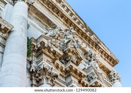 Facade of San Stae church in Venice.