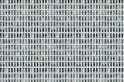 Facade of skyscraper with elongated rectangular windows, abstract colorless image, composite, concept for monotony