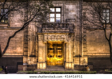 facade of Supreme mexican court of justice  Foto stock ©