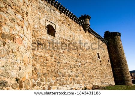 Facade of the Castle of the Barco de Avila also known as Valdecorneja Castle Stock photo ©