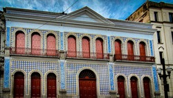 Facade of the colonial period in Brazil.