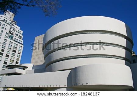 Facade of the Guggenheim Museum in New York City