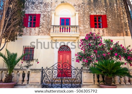 facade of the house in the town ...
