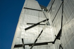 Facade of the Jewish museum in Berlin (Germany)