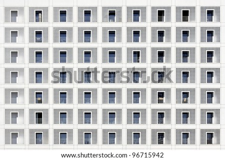 Facade of the library in Stuttgart, Germany Stock foto ©