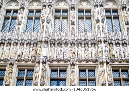 facade of the old architecture  ...