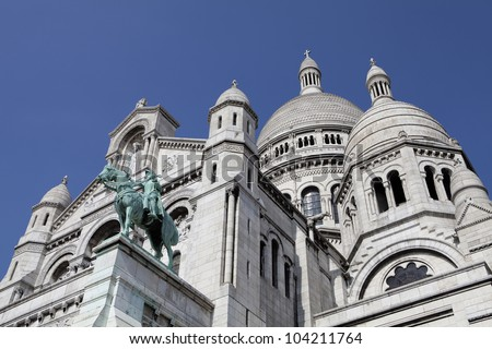Facade of the Sacr�©-Coeur Basilique at Montmartre in Paris