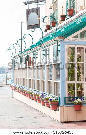 Facade restaurant in Paris