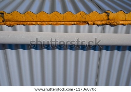 Facade with polyurethane foam - stock photo