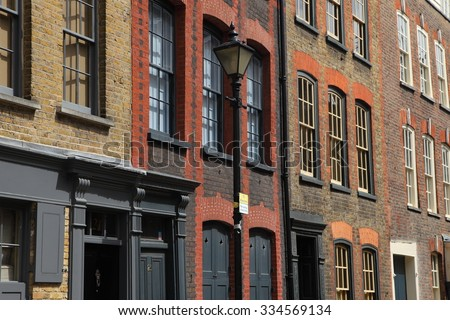Facades of east London
