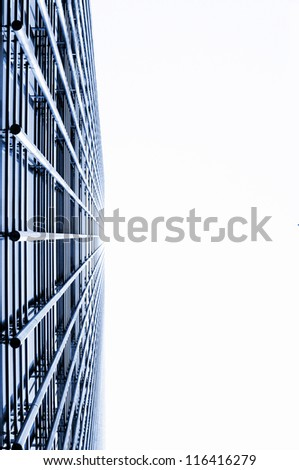 facades of glass and steel