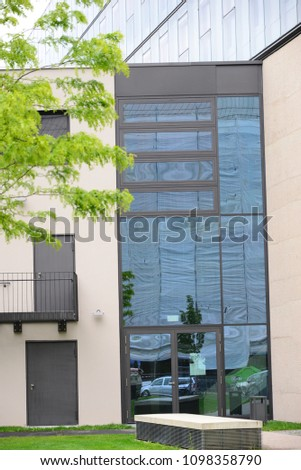 Facades of houses in the state capital Munich, Bavaria, Germany, May 17, 2014 #1098358790