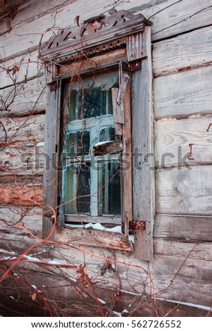 facades russian village of...