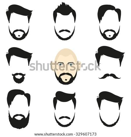 royalty free retro mens hair styles icon set 238213321 stock photo