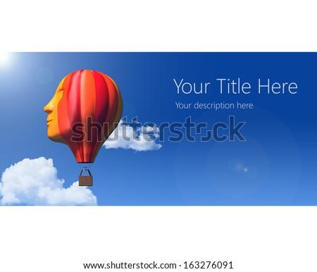 Face balloon flying
