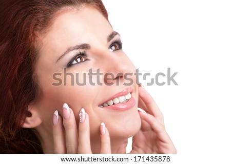 Face Beautiful Girl.Perfect Fresh Skin.Hygiene Skin Face. Youth and Skin Care  #171435878