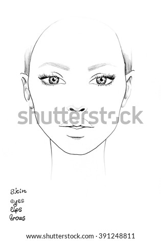 face chart makeup artist blank template ez canvas