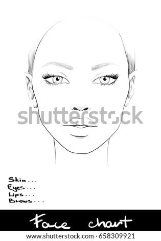 Face Chart Makeup Artist Blank Template Ez Canvas