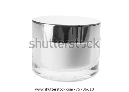 Face Cream on White Background