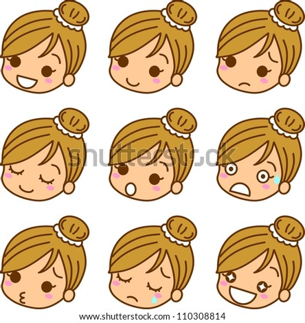 Face expression female icon