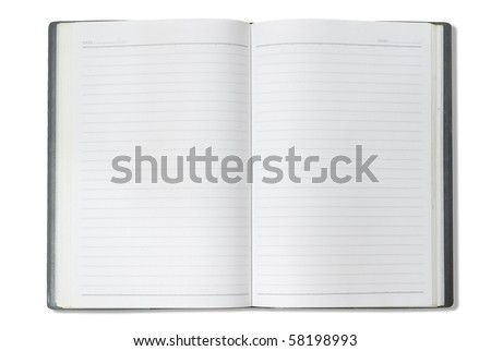 Face gray notebook for background and text