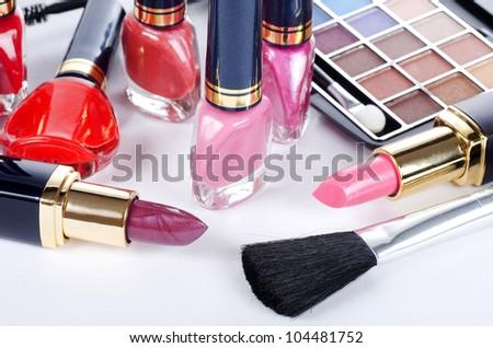 Face make-up set close up