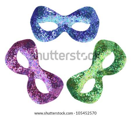 Face Masks on White Background