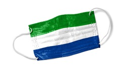 Face masks with flags of the world