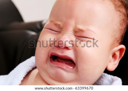 Face of a crying baby  People People Crying