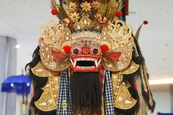 Face of Barong, a Mythological Creature portrayed in Barong Dance,  Balinese Art Performance