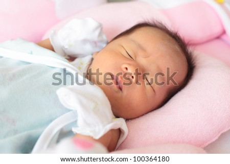 face of infant