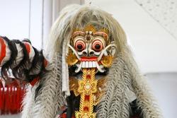 Face of Rangda from Barong Dance Balinese Art Performance