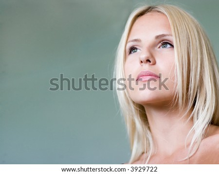 Face of young woman close up