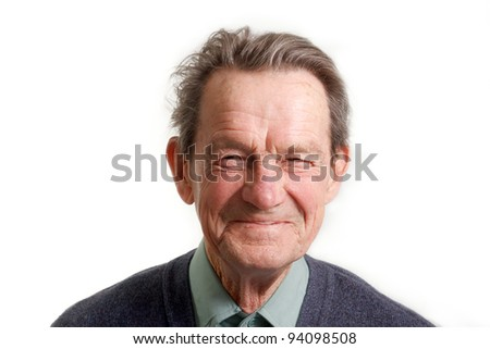 face portrait of a cheerful smiling senior man #94098508